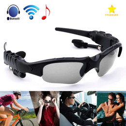 Wholesale Wireless Headphones For Mp3 - Sunglasses Bluetooth Headset Wireless Sports Headphone Sunglass Stereo Handsfree Earphones MP3 Music Player with Retail Package