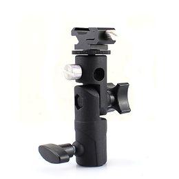 Wholesale Universal Flash Bracket - Wholesale-Professional Universal E Type Camera Flash Speedlite Mount Swivel Light Stand Bracket Umbrella Shoe Holder $ Standard Shoe Mount