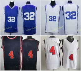 Wholesale College Sport Teams - Duke Blue Devils College 32 Christian Laettner Jersey 1992 USA Dream Team 4 Laettner Basketball Sports Navy Blue White Stitched With Name