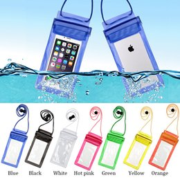 Wholesale Rope Belt White - Watertight Full Cover Universal Waterproof Swim Phone Pouch Bag For smart phone Underwater Clear Belt Case With Rope mi5s s6 s7