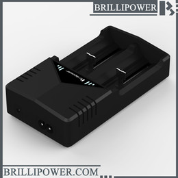 Wholesale Usb Charger Ce Eu - Brillipower 2 slot bic2 18650 portable charger usb cable us eu uk plug eohs ce certify 26650 charger for lithium battery for brillipower