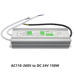 Wholesale Outdoor Power Supply For Led - Transformer Power Supply Adapter AC110-260V to DC24V 150W Waterproof IP67 LED Driver Outdoor Transformer for LED Strip Light