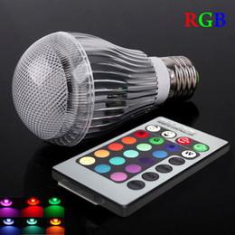 Canada Ampoule LED RGB E27 E14 GU10.3 90-260V 10W Spot LED RGB Blubs Lumière RGB éclairage + Télécommande IR 16 couleurs CE Offre