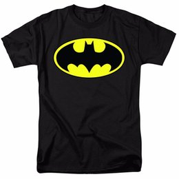 Wholesale Batman Short Sleeve Shirt - 2017 Streetwear Short Sleeve Tees Batman Classic Logo for Fathers and Dads T Shirt & Stickers Funny Printing T Shirts