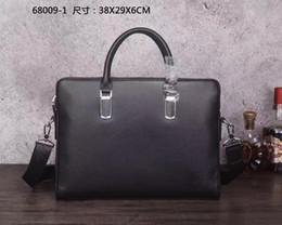 Wholesale Cowhide Tote Handbags - Original High Quality Mens briefcase Business bag Cowhide Laptop Handbag,Mens Work tote fast post leather shoulder bag model 174155450