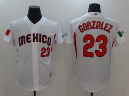 Wholesale Free Shipping World - #23 Adrian Gonzalez 2017 World Baseball Classic Jersey Men All Stitched Mexico Baseball Jersey Free Shipping