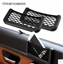 Wholesale Automotive Organizers - Wholesale- New Car Storage Net Automotive Pocket Organizer Bag For Mobile Phone Holder Auto Pouch Adhesive Visor Box Car Accessories