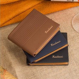 Wholesale Mens Multi Card Wallet - 2016 New Designer Mens Casual Leather Wallet Card Holder Plaid Purse Wallet For Men High Quality