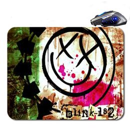 Wholesale Mouse Pads Gaming Logos - Free Shipping Blink 182 Logo Top Sell Print Anti-Slip New Arrival Customized Mouse Pad Computer PC Nice Gaming Mousemat As Gift