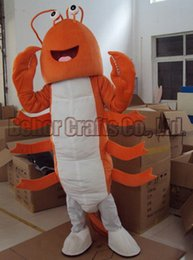 Wholesale Shrimp Costume Adult - Hot lobster mascot costume free shipping, cheap high quality carnival party Fancy plush shrimp mascot adult size.