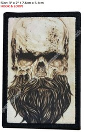 Wholesale Vest Military - Skull Beard Morale Patch clothing Tactical ARMY Hook Military USA Badge Flag Seal Devgru MC Embroidered Biker Vest Patches Badge