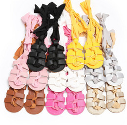 Wholesale Newborn Barefoot Sandals - 0-1 year old girl tendon anti-skid bottom baby shoes 2017 newborn PU princess casual beach barefoot sandals summer prewalker XY