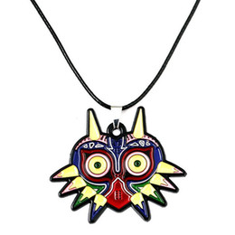 Wholesale Owl Legend - The Legend of Zelda Game Owl Pendant Necklaces Alloy Leather Chain Fashion Necklace New Hot Sale
