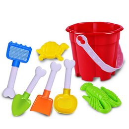 Wholesale Wholesale Sand Buckets - Children have a family of toys 7piece  sets of beach buckets dug sand play beach toys wholesale