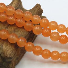 Wholesale Orange Beads 6mm - 4mm 6mm 8mm 10mm 12mm Hot Sale Orange Jade Crystal Stone Loose Beads Jasper Jade Round Diy Christmas Gifts 15inch Jewelry Making