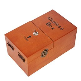 Wholesale Child Fantasy - Ehonestbuy Wooden Turns Itself Off Useless Box, Leave Me Alone Machine Box- Best Gift for Adult, Children