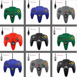 Wholesale nintendo 64 controller joystick - New 5 color Long Handle Controller Pad Joystick Game System for Nintendo 64 N64 without Retail packaging DHL