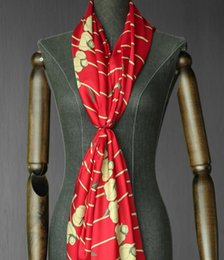 Wholesale Fabric Process - wholesale Rose red twill silk scarf fabric dresses, print satin floral Process tweed cheap-fabrics tecido stripe scrapbooking B843
