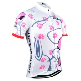 Wholesale Women S Team Cycle Jerseys - BXIO Brand Cycling Jersey Women Short Sleeve Sport Jersey Summer Cool Snoopy Bike Clothing Pro Team Equipe De France BX-0209W021-J