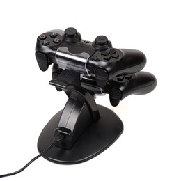 Xbox dual en venta-Dual Chargers Charger Dock Estación de pie para Sony PlayStation 4 PS4 PS 4 Game Gaming Wireless Controller Console