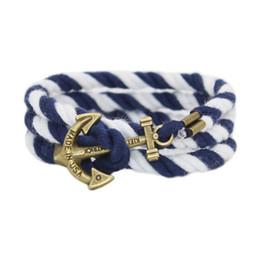 Wholesale Gold Anchor Wrap Bracelet - Wholesale-2016 Miansai Tom hope Gold Anchor Bracelet Men Wrap Leather Bracelets Bangles Male bracelet homme pulseras hombre erkek bileklik