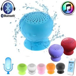water resistant bluetooth shower speaker Coupons - Wholesale- Water resistant Wireless Bluetooth Handsfree Suction Speaker subwoof Shower Outdoor With mic music receptor bluetooth for PC