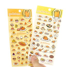 Wholesale Korean Stationery Stickers - 24 Pcs Lot Decorative PVC Sticker Kawaii Gudetama Korean Funny Stickers Scrapbook Tools Stationery School Supplies 2016