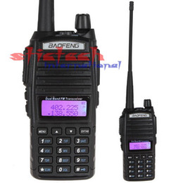 Wholesale Wholesale Dual Band Transceivers - Wholesale- by dhl or ems 20pcs Baofeng UV-82 Dual Band VHF 136 - 174   UHF 400 - 520 MHz FM Transceiver Walkie Talkie Two 2 Way Radio