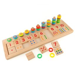 Wholesale Preschool Development - Wholesale- Brand New Colourful Montessori Teaching Math Mathematics Number Wood Board Preschool Educational Development Toy Child Kid