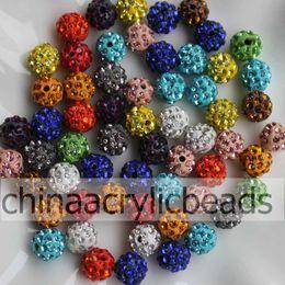 Wholesale Shambala Pave - 100Pcs 10MM Sparkling Disco Ball Clay Pave CZ Crystal For Shambala Charm Beads