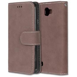 "Wholesale Lg Optimus Lte - For LG K4 LTE Optimus Zone 3 VS425 Solid color Leather Case Photo Frame Flip Phone Cover For K 4 LG Spree K120e K130e 4.5"""