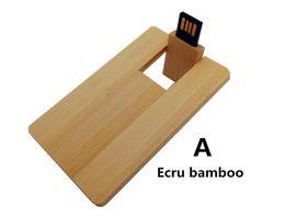 Wholesale Wood Flash Drive Wholesale - Wood Flash Drive 4GB 8GB 16GB 32GB USB Pendrive Rectangle USB Flash Drive U disk Memory Custom