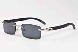 f75f1f3be4 2017 gafas de sol de madera de bambú para hombres gafas de cuerno de búfalo  negro