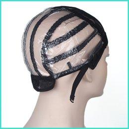 tappo di trama Sconti Weaving Cap Wig Black Lace Wigs Caps per fare parrucche con cinturino regolabile sulla parte posteriore estensione dei capelli trama spedizione gratuita ZA2335