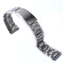 Wholesale Womens Watch Clasp - bracelet electronic New High Quality Watch Band Womens Men 20mm 22mm Buckle Silver Stainless Steel Watch Band Strap Straight End Bracelet