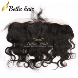 Wholesale Free Hair Products - Body Wave Ear to Ear Lace Frontal Closure Indian Human Hair Extensions Lace Closure Free Shipping Bella Hair Products