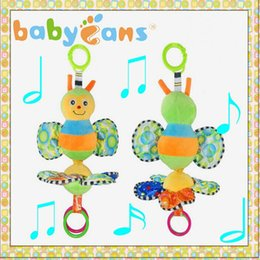 Wholesale Hanging Bee - Wholesale- Baby bed bell plush toys bee music rattle mamas papas stroller hanging toys teether rattles musical toy crib mobile holder