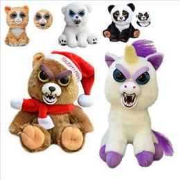 Wholesale Cartoons Faces - Face Change Feisty Pets Animals Plush toys cartoon monkey unicorn Stuffed Animals for baby 20 Styles 20 pcs YYA878
