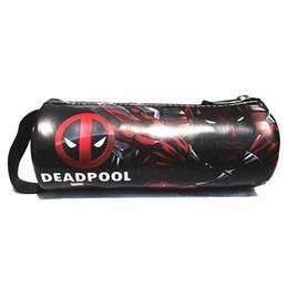 Wholesale Marvel Cartoon Characters - Wholesale- New Arrival Marvel Deadpool Cartoon Character Wallet Pouch Coin Pouch Wallets Zipper Bag Purse Pencil Pen Case Cases
