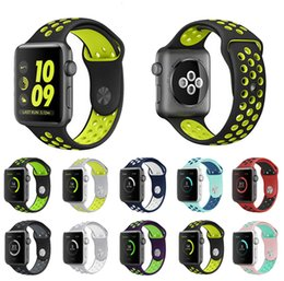 Wholesale Loop Device - NK Replacement Smart Strap For Apple Watch Luxury Soft Silicone Sport Band NK Hole Loops Strap Wearable Device 38 42mm Bracelet