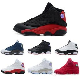 Wholesale man online games - Jumpman 2016 Cheap New 13 XIII men Basketball Shoes red Bred He Got Game Black Sneakers Sport Shoes Online Sale US 8-13