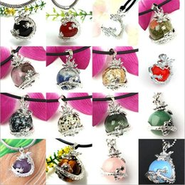 Wholesale Red Chinese Charm - Free shipping - Chinese Dragon Wrap Ball Bead Charm Gemstone Natural Stone Pendants For Necklace + Free Gift