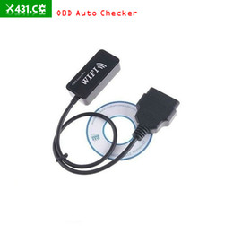 Wholesale Audi Apple - OBD Checker ELM327 WIFI OBD Auto checker ELM 327 WIFI Car Diagnostics Tool for Apple iPad iPhone iPod Touch