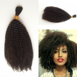 Wholesale Afro Kinky Human Hair Extensions - 4b 4c Bulk Human Hair for Braiding Peruvian Afro Kinky Curly Bulk Hair Extensions No Attachment FDSHINE