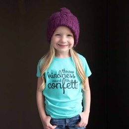 Wholesale Top Fashion Outfits For Kids - Unisex Kids Tshirts Europe Blue White Letter Printed Tops For Girls Boys Fashion Children Cotton Summer Outfits