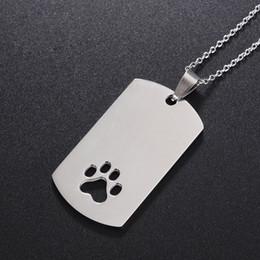 аксессуары для собак Скидка Pet собака кошка воротник аксессуары украшения ID Теги анти-потерянный из нержавеющей стали форма лапы индивидуальные тег ZA5530