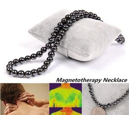 Wholesale Hematite 6mm - Magnetotherapy 6mm 8mm Beads Magnetic Hematite Round Necklace Healthy Jewelry Unisex (Size: 8 mm)