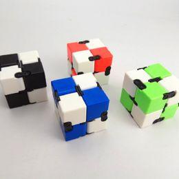 Wholesale Adult Novels - Novel Creative Infinite Cube Fidget Cube Plastic Hand Cube Flip Cubic Puzzle Anti Stress Relief Toys Hand Spinner Adult Magic Fidget
