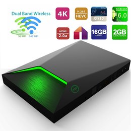Wholesale Network Tv Box - M9S-Z9 TV Android Box 2GB 16GB S912 Octa core best android tv box Dual band 2.4G+5.0G wifi Network Streaming TV Box