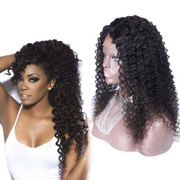 Wholesale Glueless Full Lace Wigs Dhl - Glueless Lace Front Human Hair Wigs Deep Curly Brazilian Virgin Hair Full Lace Wig For Black Women With Baby Hair DHL Free Shipping